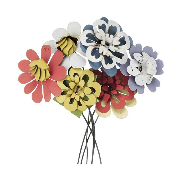 Pastel Recycled Tin Bouquet