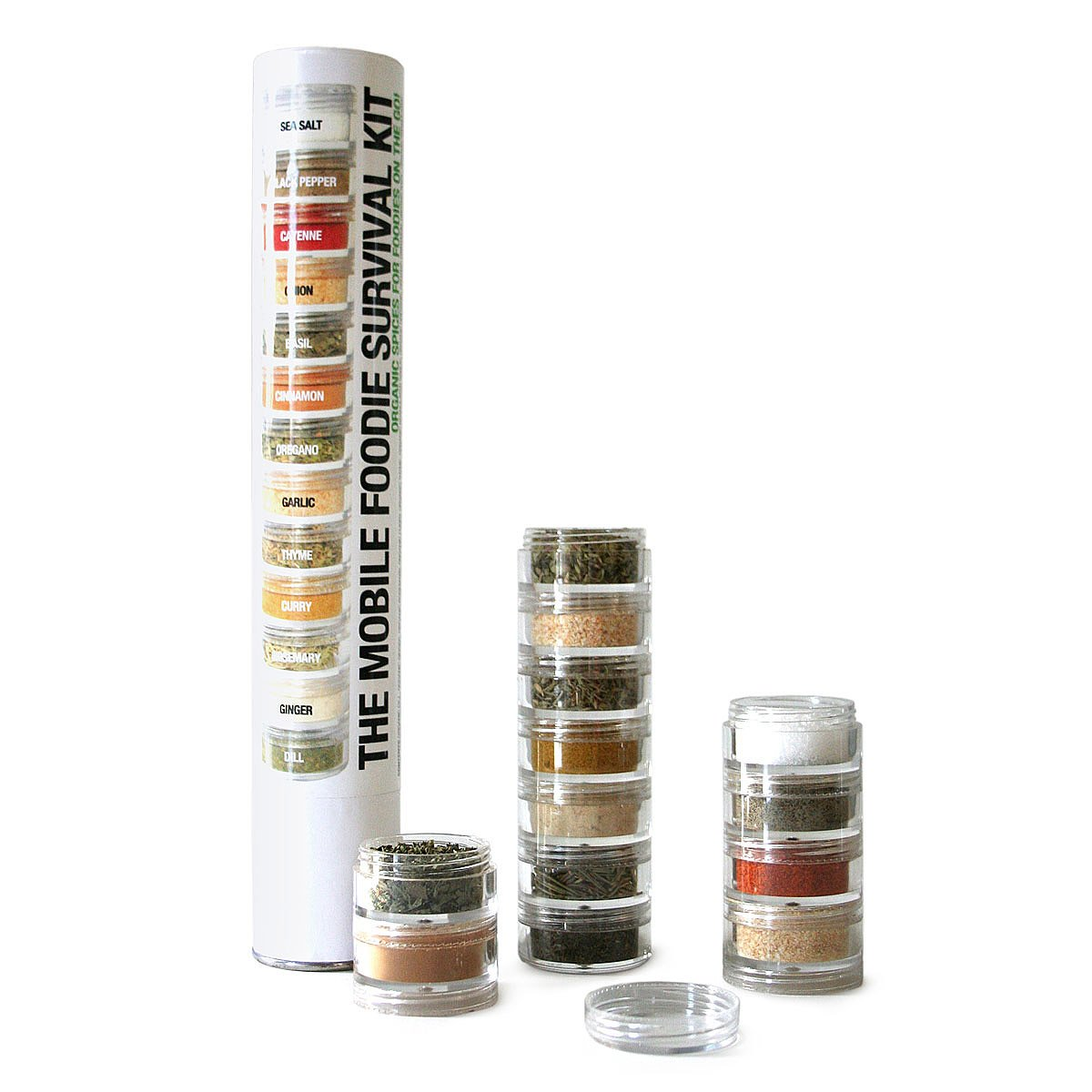Mobile Foodie Survival Kit Mobile Foodie Survival Kit Travel Spice Kit Organic Spices