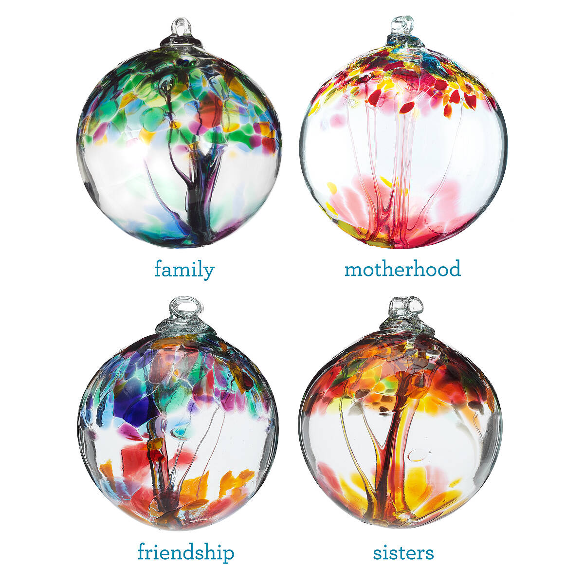 Glass globe ornaments - Recycled Glass Tree Globes Relationships 2 Thumbnail