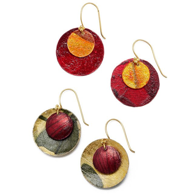 Vegetable Parchment Earrings