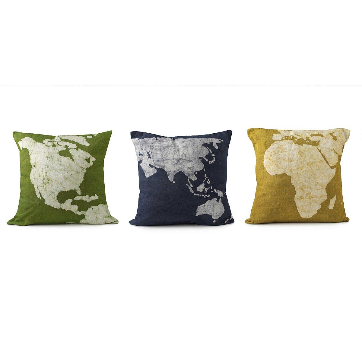 unique pillows - continent pillows set of pillow case dyed pillow case