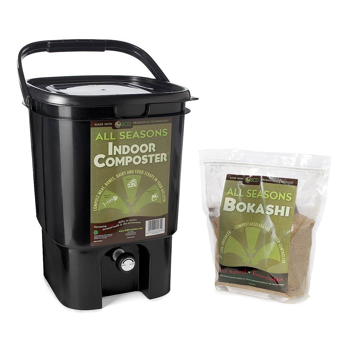 kitchen composter bokashi indoor system uncommongoods