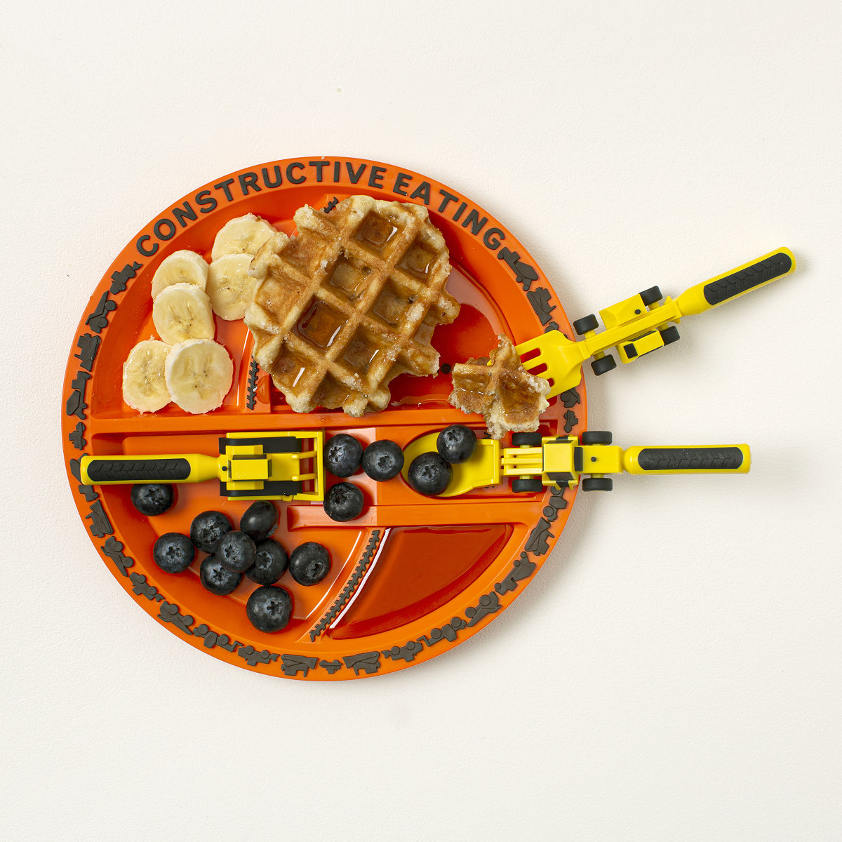Construction Plate \u0026 Utensils  sc 1 st  UncommonGoods : dinner plates for kids - pezcame.com