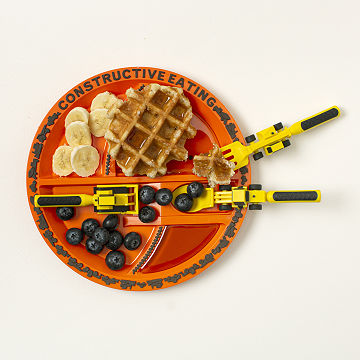 Construction Plate & Utensils