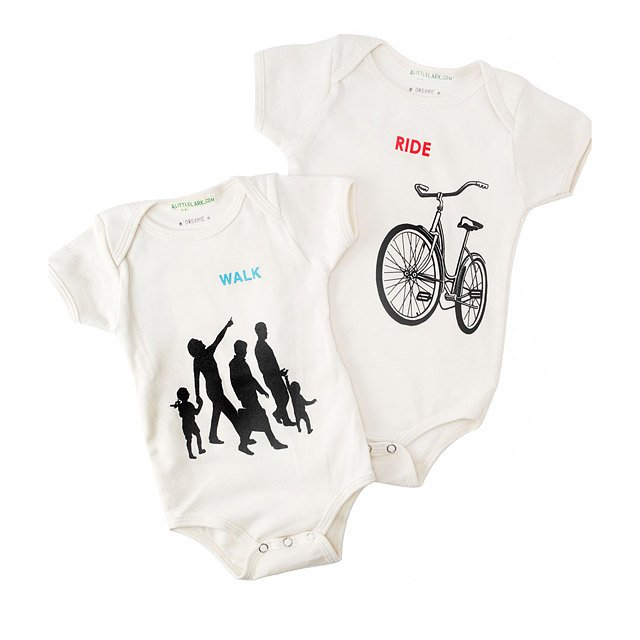 Organic Babysuits: Walk or Ride