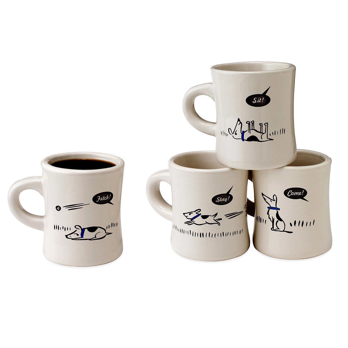 bad dog wisdom diner mugs set of 4 dog glasses pet dog lover