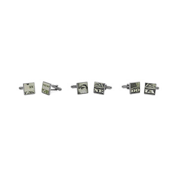 Money Cufflinks-Set of 6