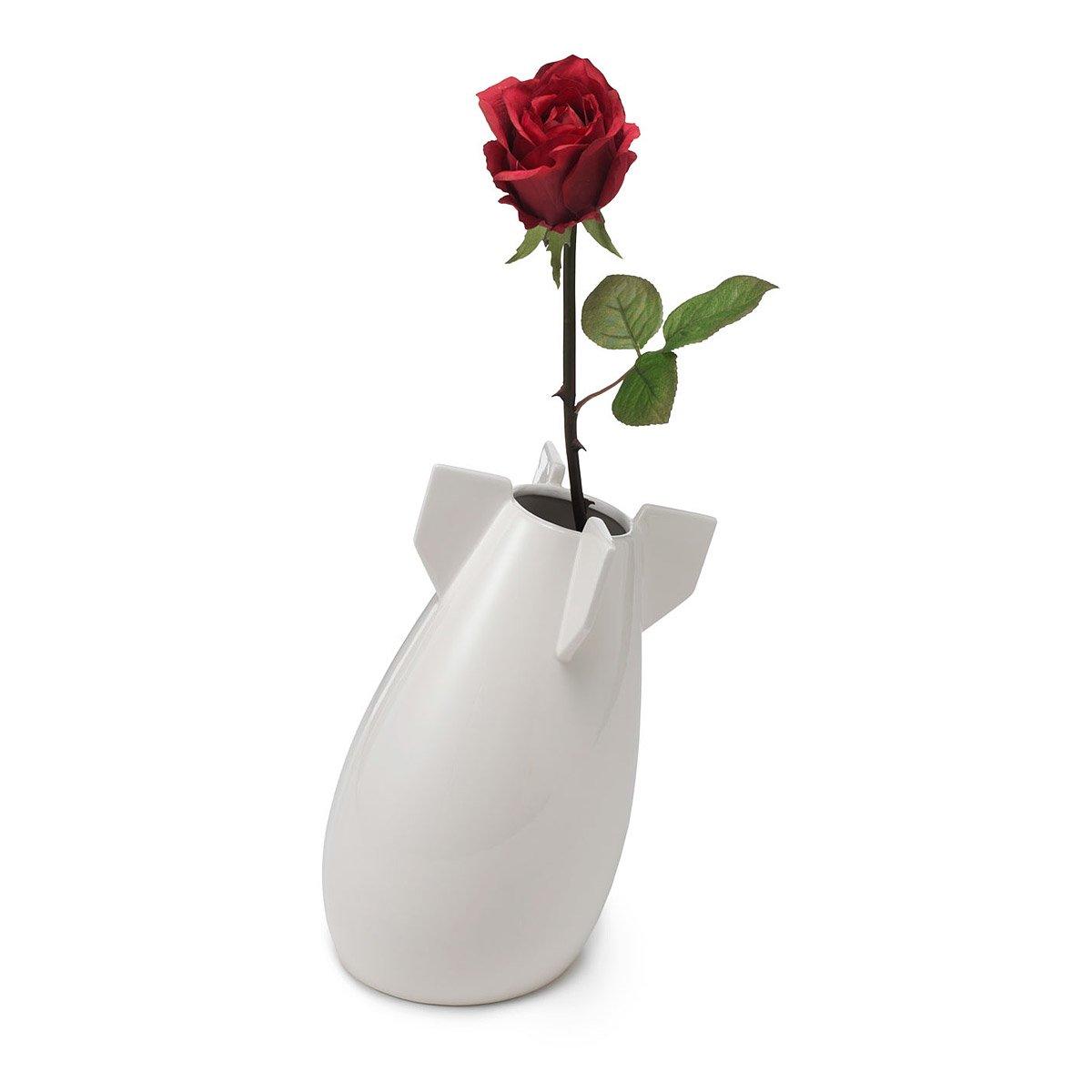 Peaceful Bomb Vase Peace Bombs Vases Planters White Ceramic