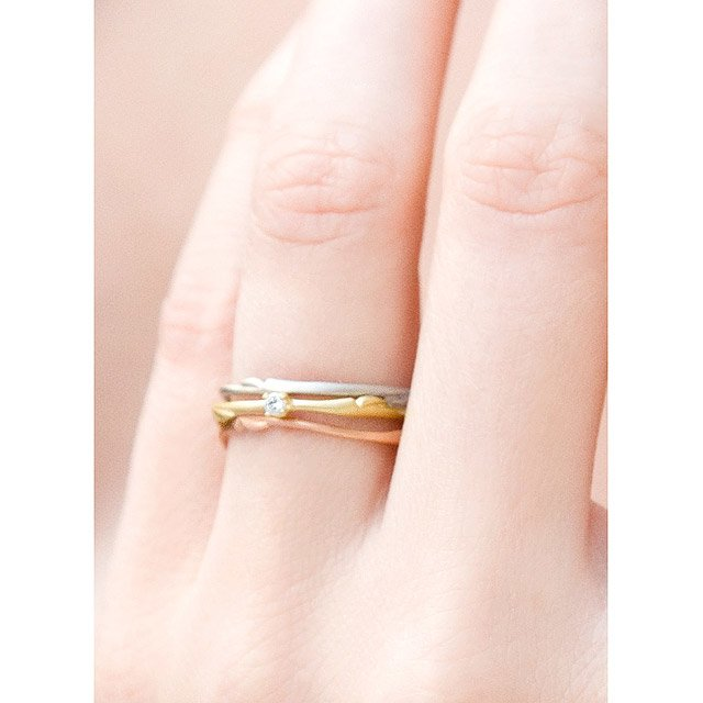 Willow Stackable Wedding Rings 3