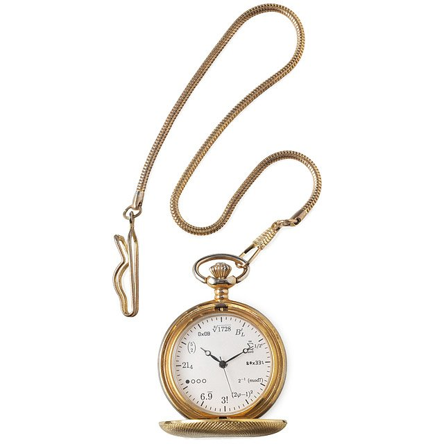 093a2753ef55 Geek Pocket Watch | Math Formula Brass Pocket Watch | UncommonGoods