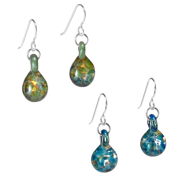 Glass Birthstone Earrings