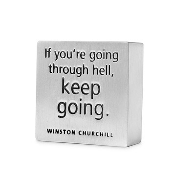 'Keep Going' Paperweight