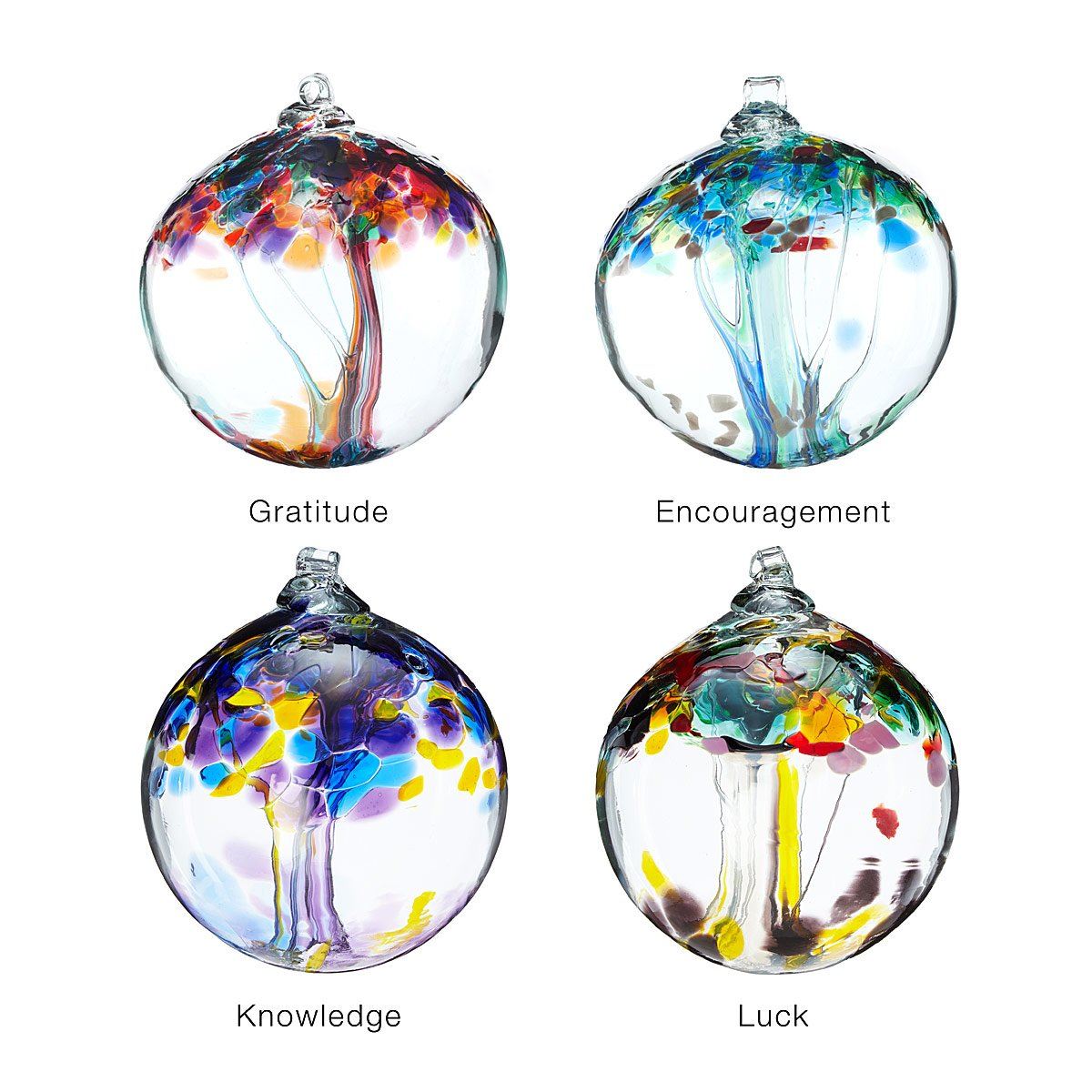 Glass globe ornaments - Recycled Glass Tree Globes Inspirations