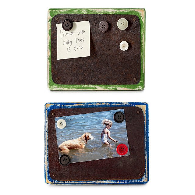 Reclaimed Tin & Wood Magnetic Frames