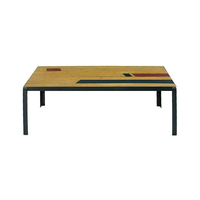 Reclaimed Gym Floor Coffee Table