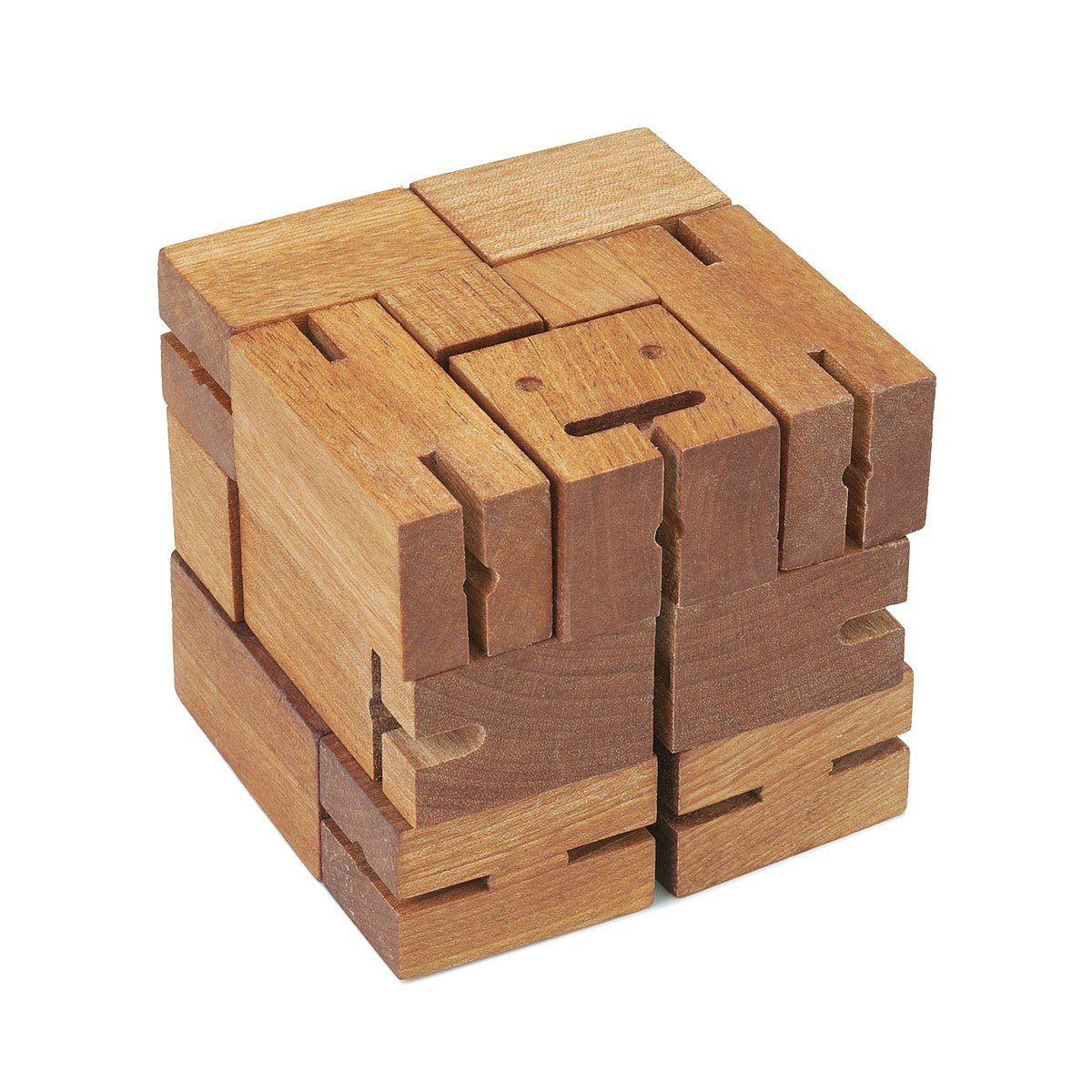 Cubebot Puzzle Wooden Robot Toy Areaware Uncommongoods