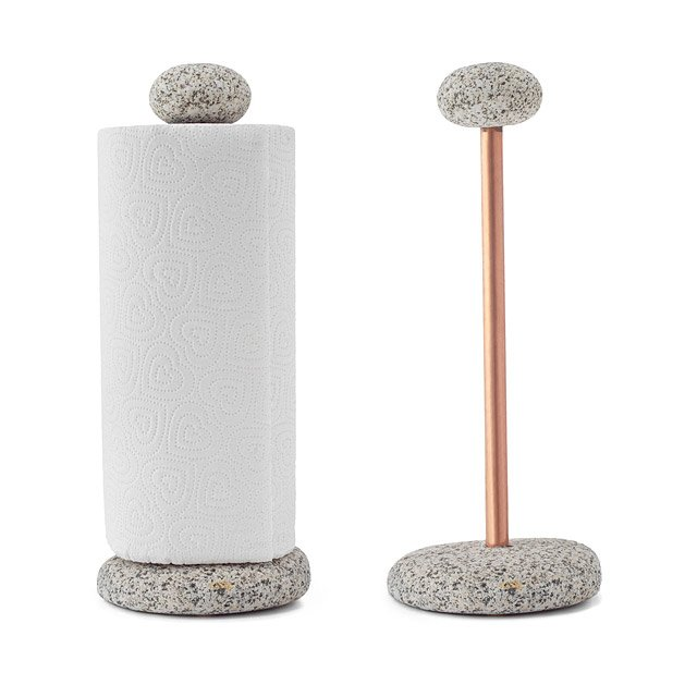 Sea Stone Paper Towel Holder