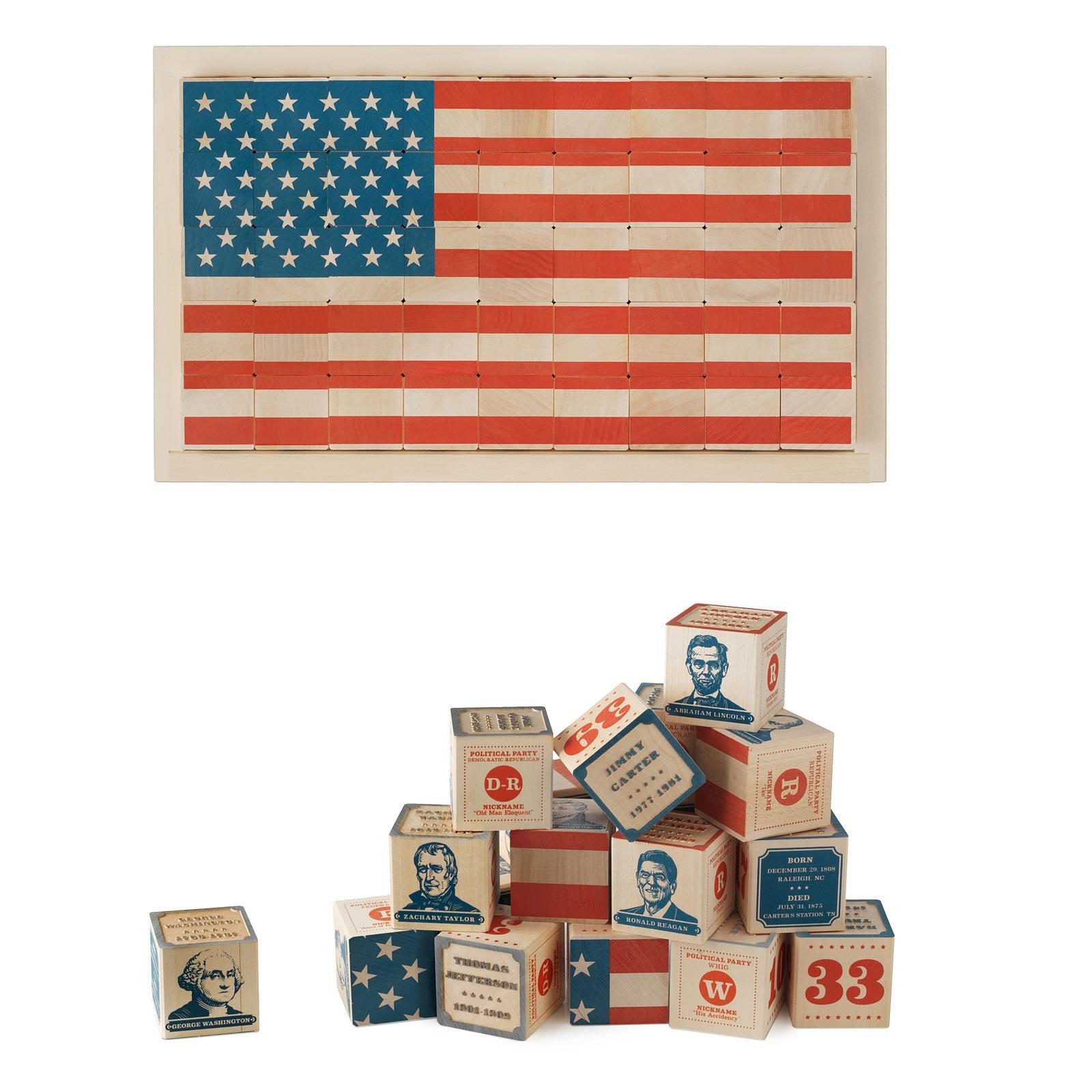 President block set us presidents wooden blocks american flag president block set 1 thumbnail gamestrikefo Choice Image