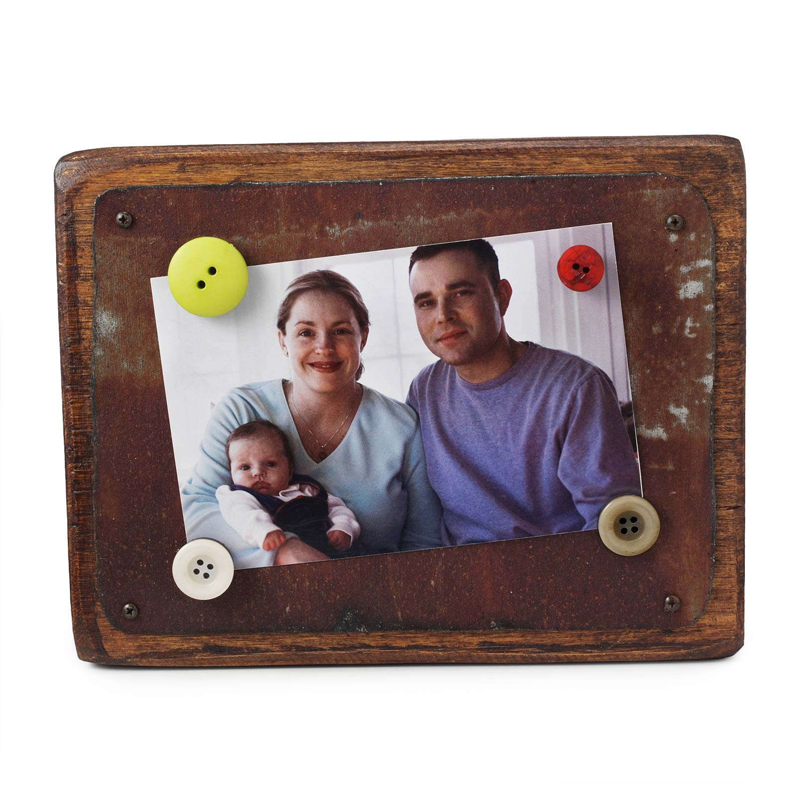 Unusual picture frames photo frames uncommongoods reclaimed tin wood magnetic frame jeuxipadfo Images