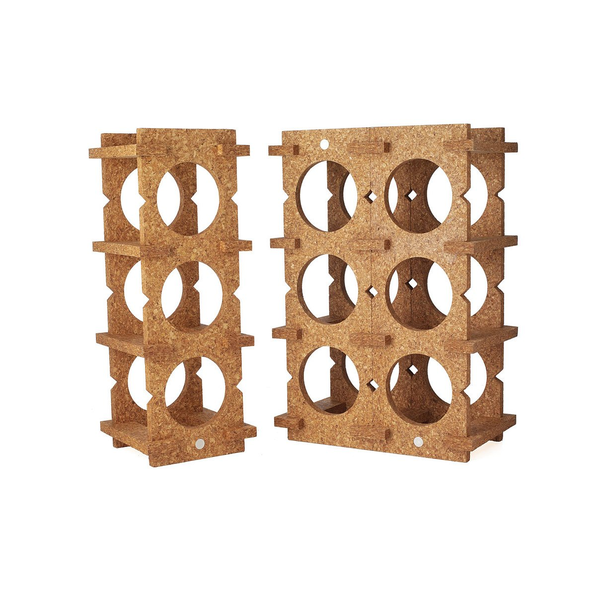 cork wine rack system  stackable modular wooden wine rack  - cork wine rack system  thumbnail