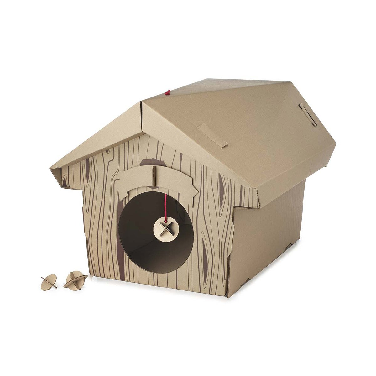 Cardboard Cat Chalet 1 Thumbnail Photo Gallery