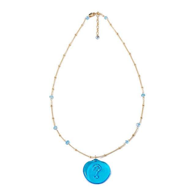 Glass Spirituality Necklace Agnostic Question Mark Spiritual