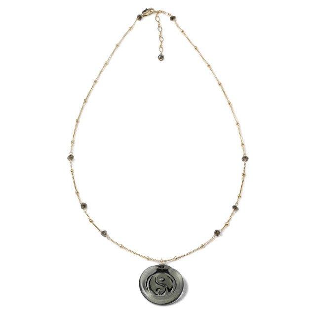 Glass Spirituality Necklace Taoism Ying Yang Pendant Jewelry