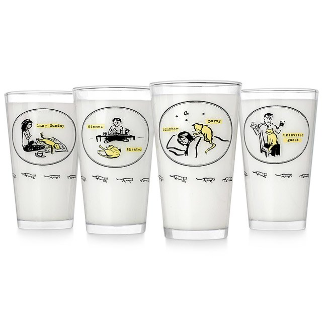 Inconvenient Kitty Tumblers- Set of 4