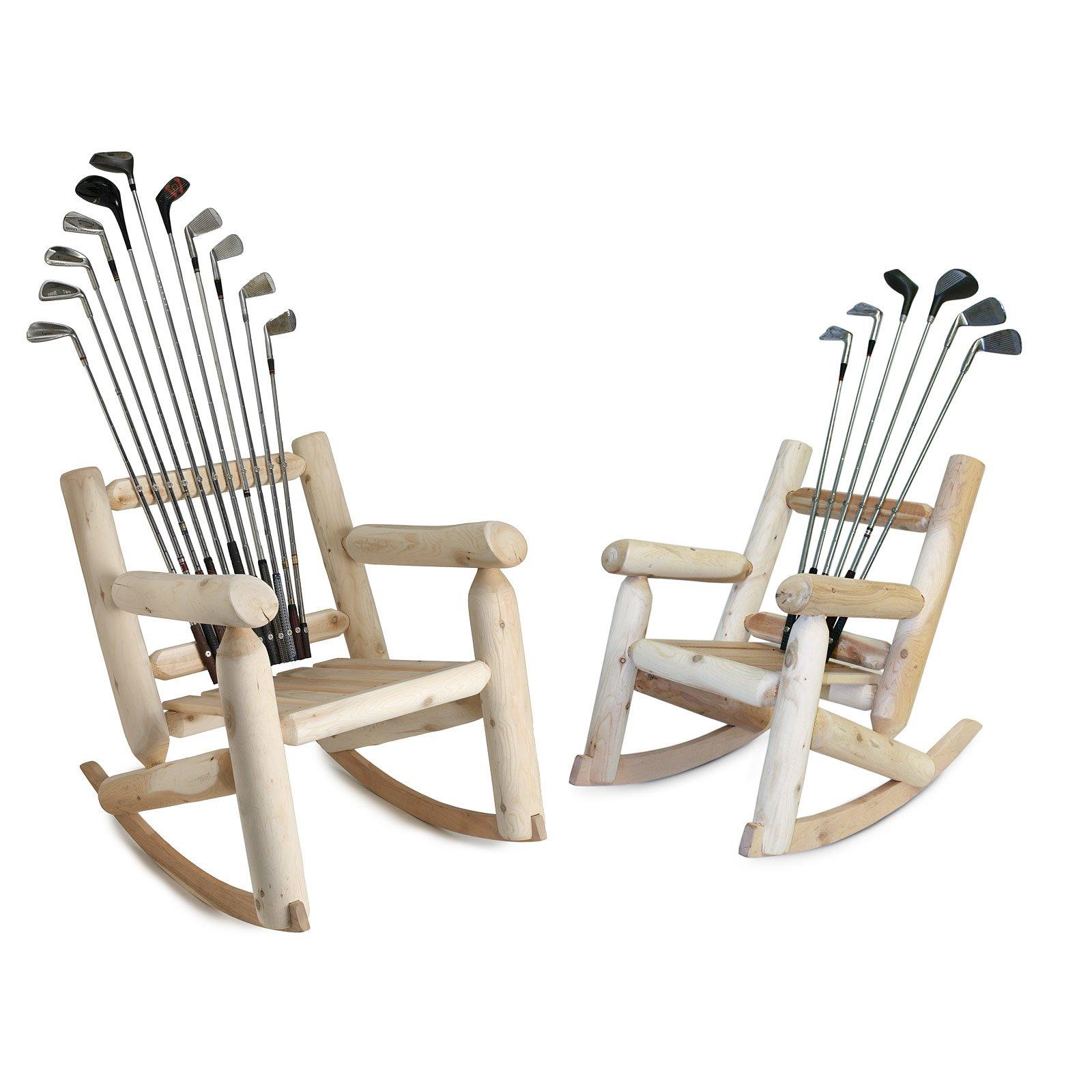 Golf Club Rockers 1 thumbnail  sc 1 st  UncommonGoods & Golf Club Rockers | Irons Woods Cedar Rocking Chair | UncommonGoods