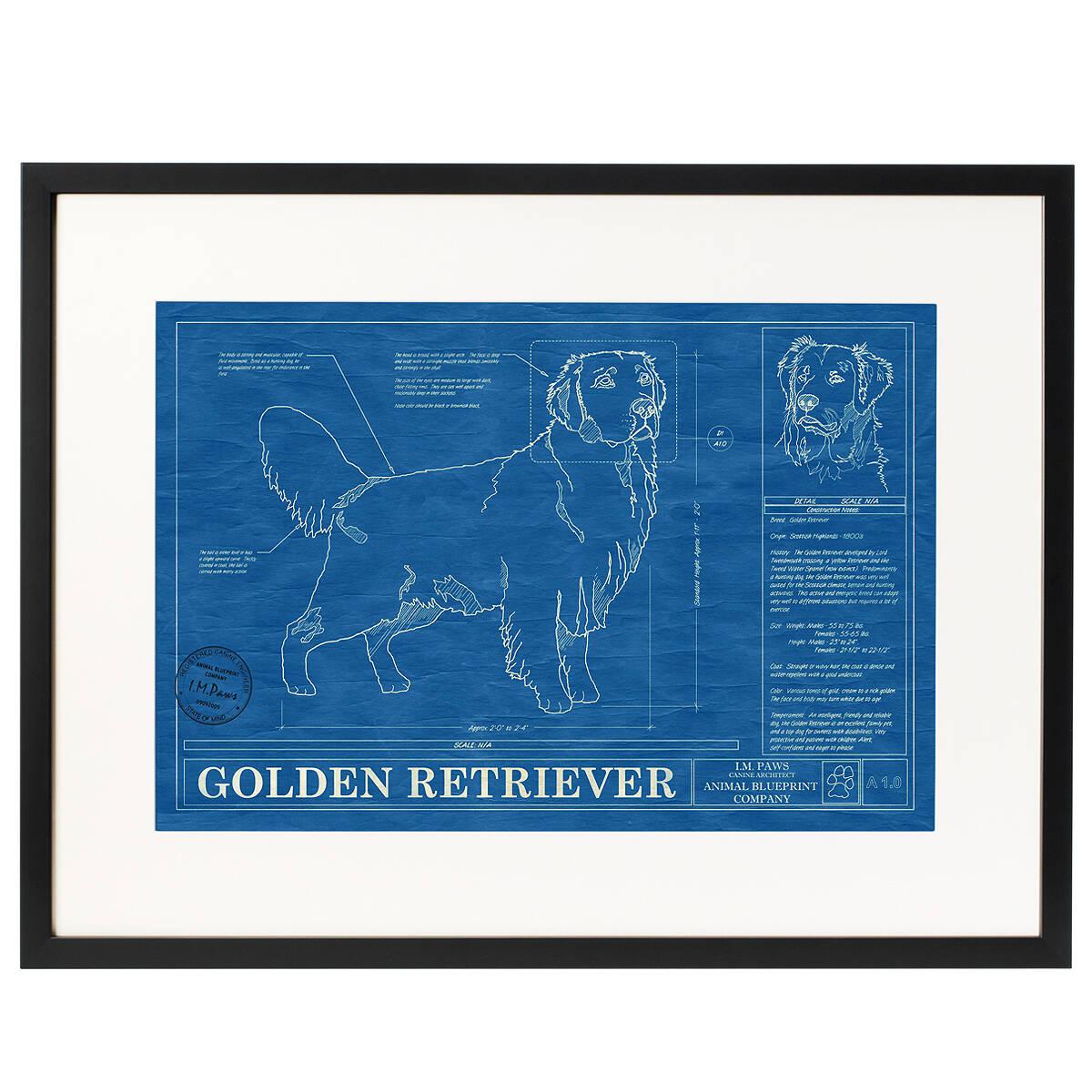 dog blueprints framed wall art dog breeds uncommongoods dog blueprints 3 thumbnail