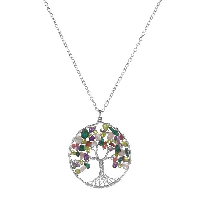 Tree Of Life Necklace Abundance Silver Pendant Tree Jewelry