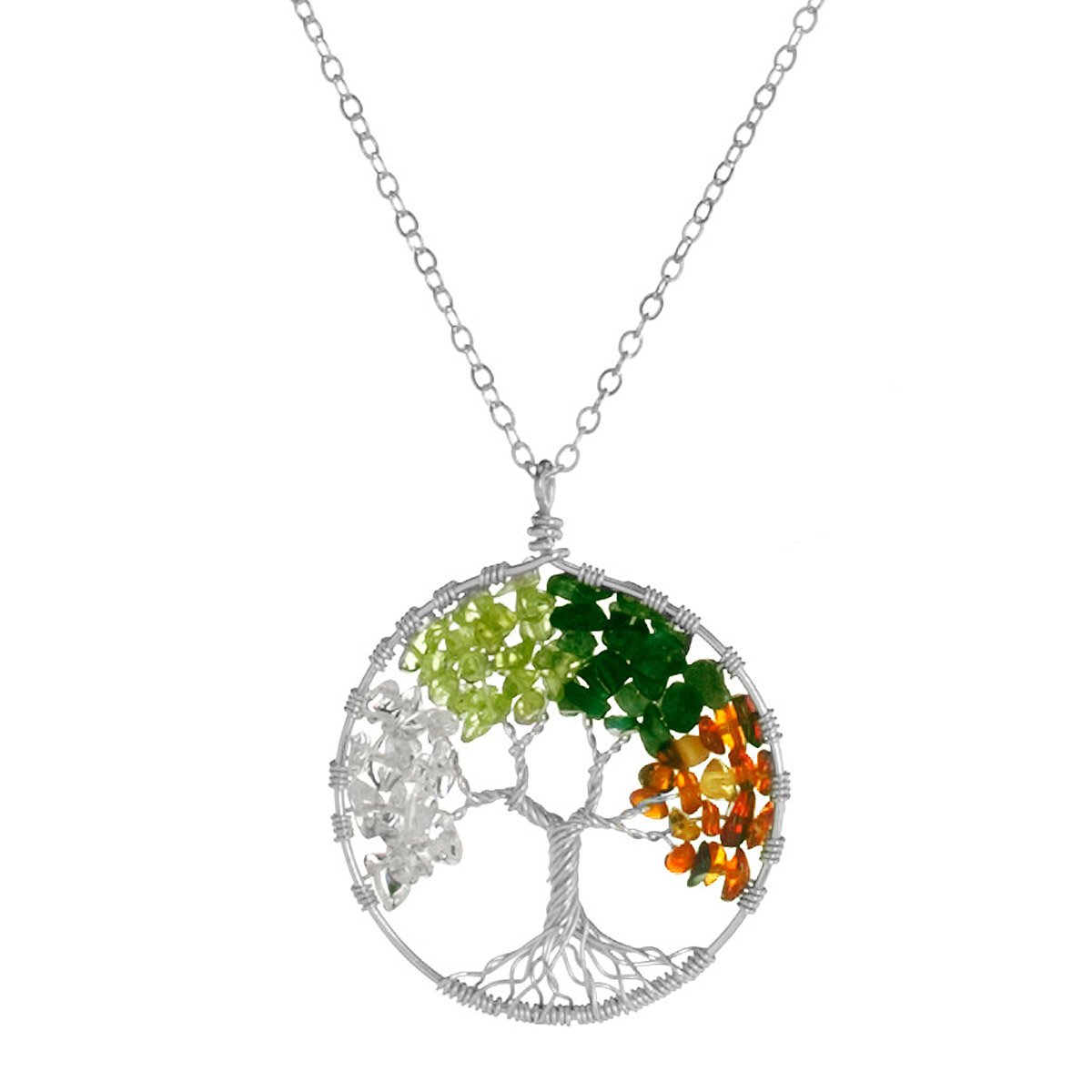 Tree of life necklace four seasons silver pendant tree tree of life necklace four seasons 1 thumbnail aloadofball Choice Image