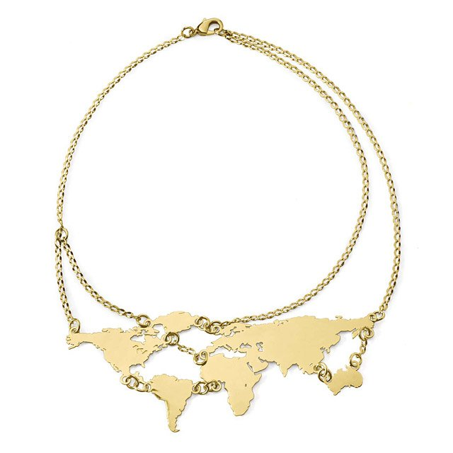 Gold World Links Necklace