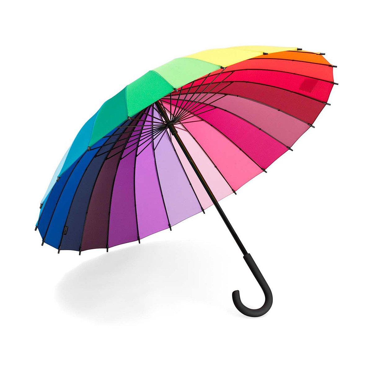 a rainbow umbrella