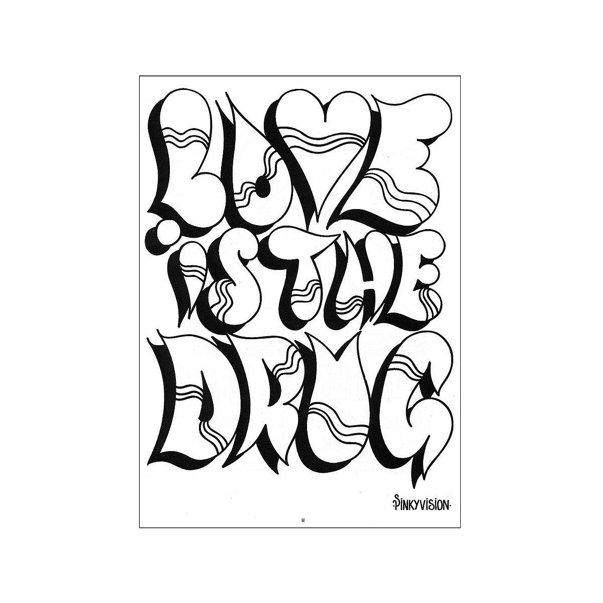 Street Art Doodle Kit | Graffiti coloring book, drawing, fun, game ...