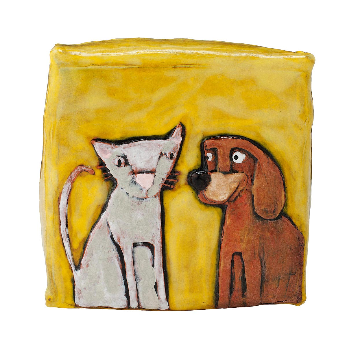Clay Canvas: Cat & Dog | Wall Art, Clay, Pets, Hadley Kelly, For Pet ...