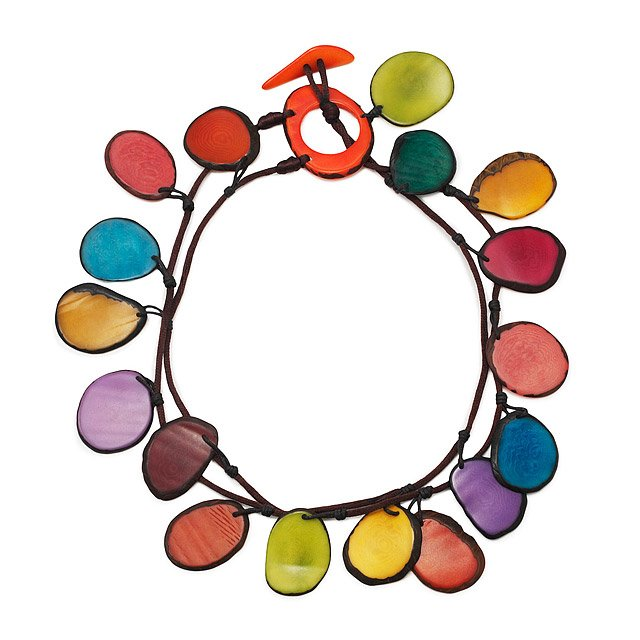 Multi-Color Double Tagua Necklace