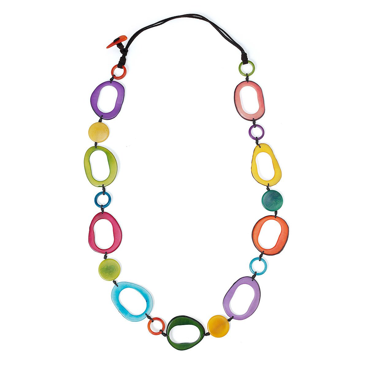 fairly fairtrade made lajuniper ethical tagua home product la geometric juniper of bright necklace