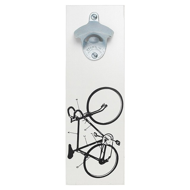 Wall Mounted Bicycle Bottle Opener
