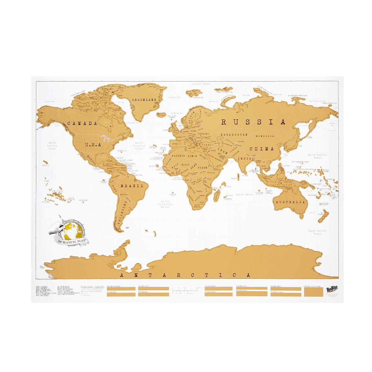 Scratch Map Scratch Off World World Poster UncommonGoods - Scratch world map us manaufacturuer