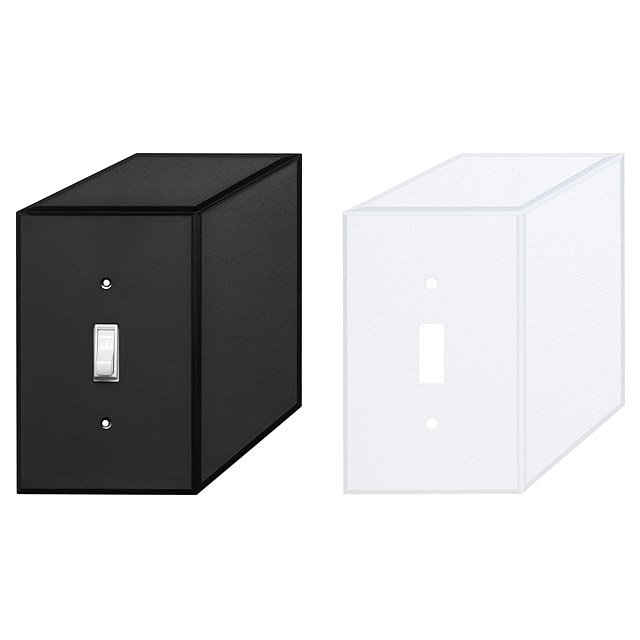 Cubic Switch Plate Home Decor Modern Design Outlet Cover