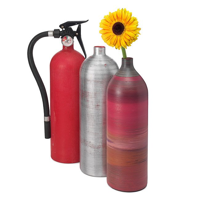 Recycled Fire Extinguisher Vase