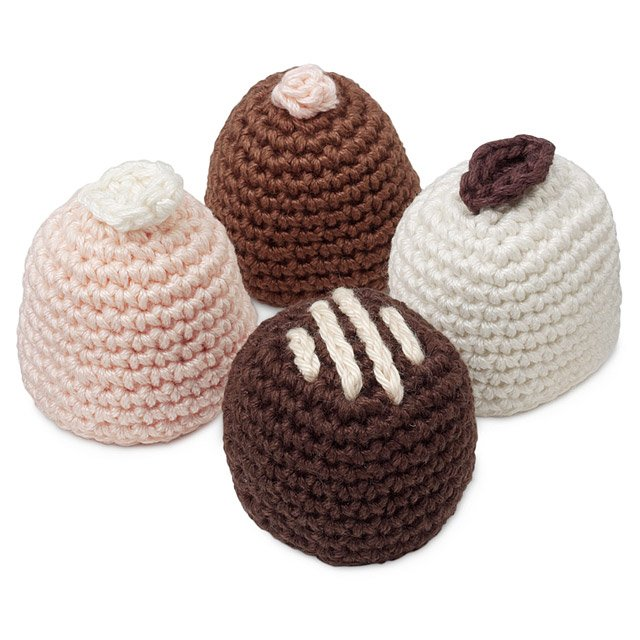 Assorted Chocolates Crocheted Sachets