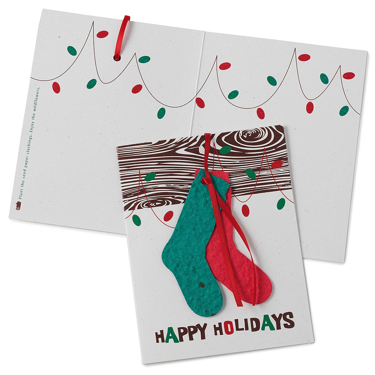 Happy Holidays Stockings Bloomin Cards Holiday Seasons Greetings