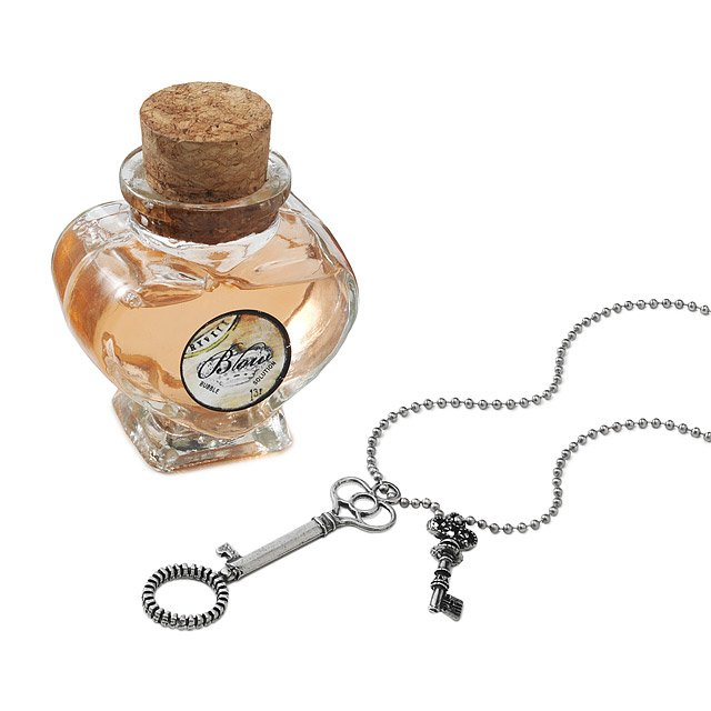 Bubble Wand Necklace & Rose Solution Set