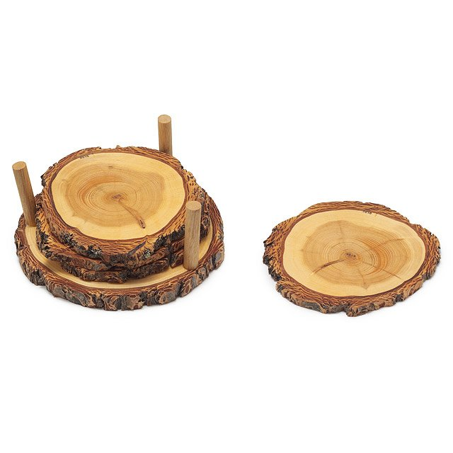 tree ring coasters - Drink Coasters