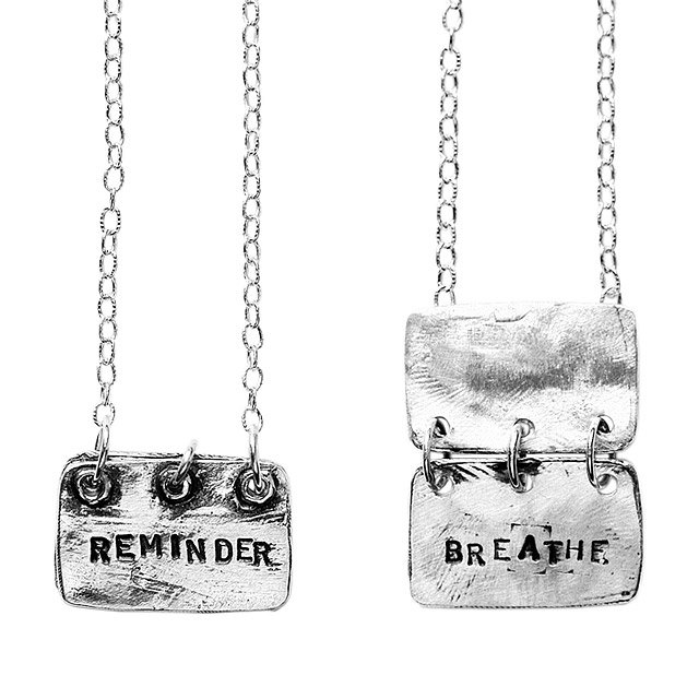 Reminder, Breathe Necklace