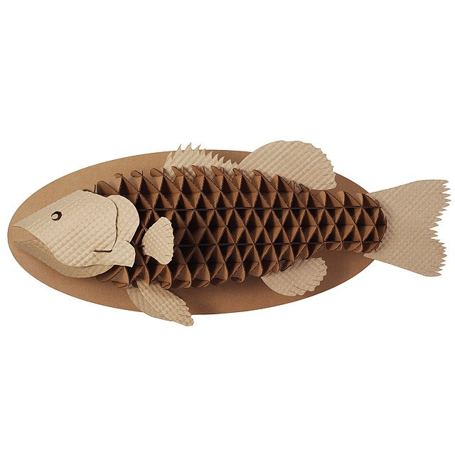 Recycled Cardboard Trophy Fish