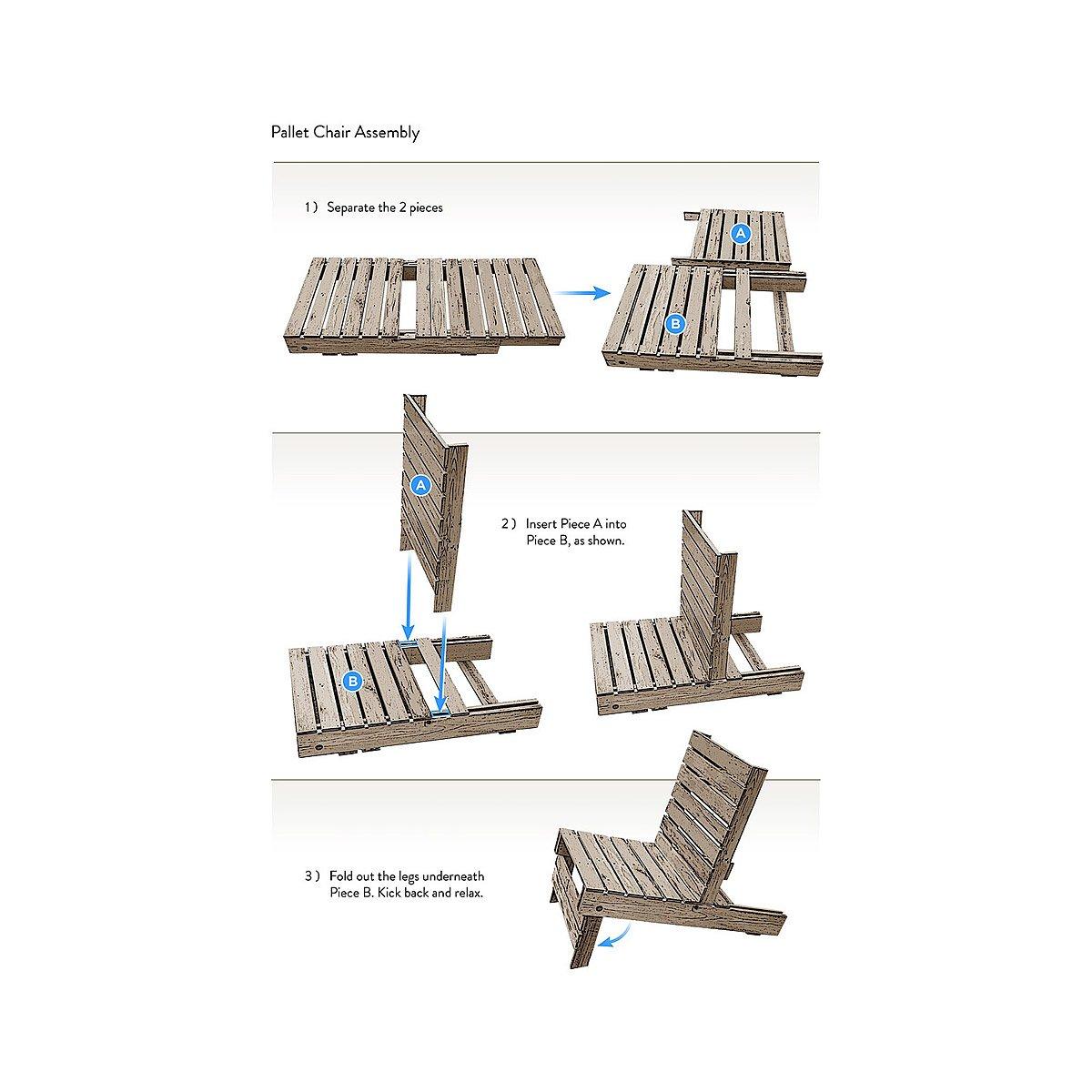 Pallet armchair - Magnetic Pallet Chair 3 Thumbnail