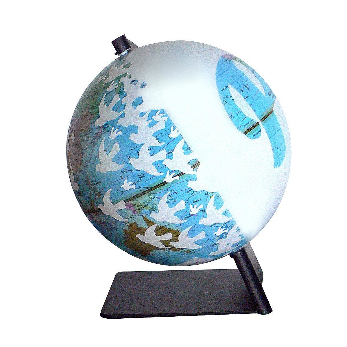 Peace globe map world sculpture wendy gold artwork peace globe 2 thumbnail gumiabroncs Images